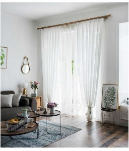 pure white curtains volie