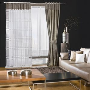 curtains / living room  / eyelet curtains / grommet